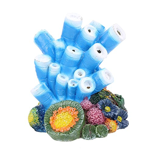UEETEK Luftblase Stein Decopative Korallen Design Aquarium Sauerstoffpumpe Ornamente für Aquarium Aquarium Dekoration