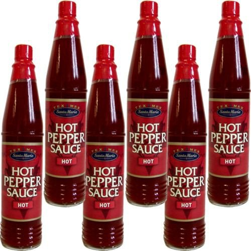 Santa Maria Hot Pepper Sauce Hot (6 Flaschen a 85 ml)