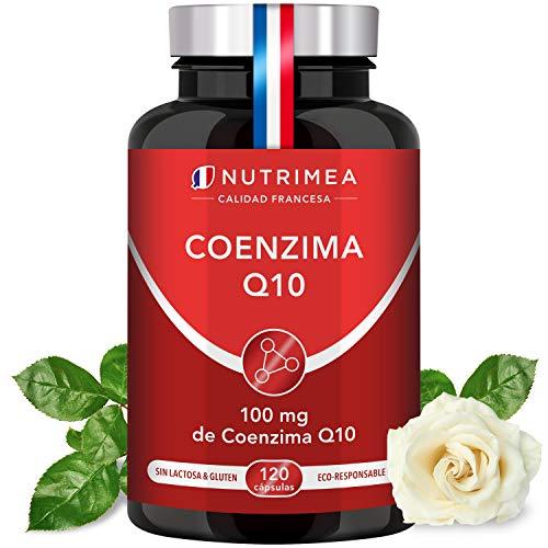 Coenzima Q10 100% Natural | Potente Antioxidante Piel Colesterol | CoQ10 Anti Edad Arrugas Líneas de Expresión Regenerador Celular Sistema Inmunológico | 120 Cápsulas Fabricado en Francia