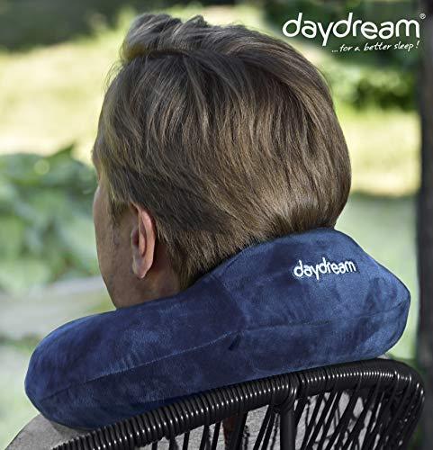 daydream: Reise-Nackenkissen mit Kopfstütze aus Memory Foam, verschiedene Farben (N-5363), Nackenhörnchen, Reisekissen, Nackenstützkissen