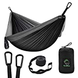 Grassman Camping Hammock Double & Single Portable Hammock with Tree Straps, Lightweight Nylon Parachute Hammocks Camping Accessories Gear for Indoor Outdoor Backpacking, Travel, Hiking, Beach