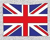 BONRI Union Jack Tapiz, Clásicos y Tradicionales de la Bandera de Reino Unido Moderna Británica, la Lealtad, el Ancho de la Pared Colgante para el Dormitorio Salón Dormitorio, Azul, Rojo,40'x60'