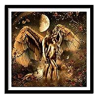 フルスクエアダイヤモンド5DDIYダイヤモンド絵画「天使愛好家」3D刺繡クロスステッチラインストーン絵画家の装飾正方形50x50cm