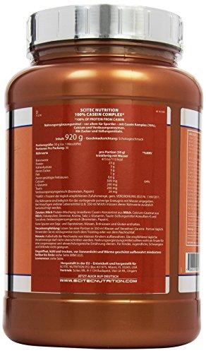 Scitec Nutrition Casein Complex Belgian Chocolate, 1er Pack (1 x 920 g) - 3