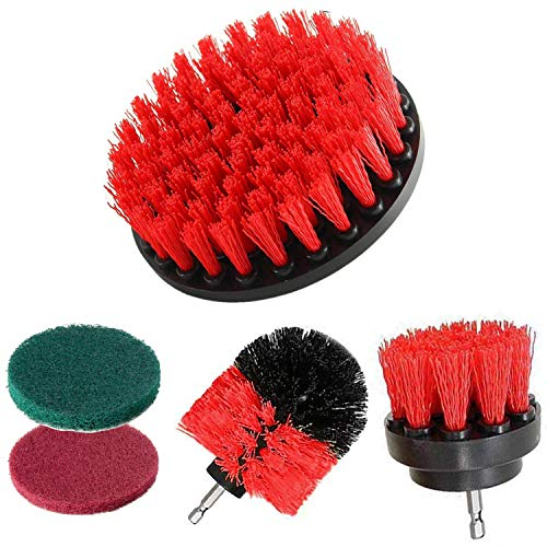 Drill Brush Power Scrubber Cleaning Brush Attachment Set All Purpose Drill Scrub Brushes Kit