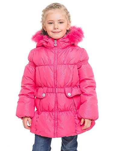 Grimada B568 kinderen meisje donsjack SNOWIMAGE met echte bontcapuchon roze