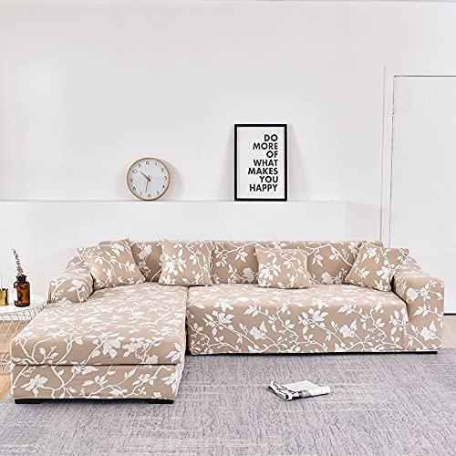 WXQY Funda de sofá de Esquina en Forma de L elástica Todo Incluido sofá a Prueba de Polvo Toalla Funda de sillón sofá de Esquina protección Muebles A3 1 Plaza