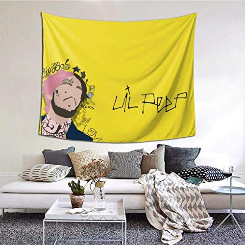 Tengyuntong Lil Peep Tapestry Wall Hanging Home Decor Dorm Tapestry 3D 90 x 60 Inch