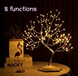 ALULA Eight Functions Lighted Tree Copper Wire Tree Lights Led Bonsai String Light Battery/USB Operated Tree Lights for Indoor Decoration and Gift (Warm White)