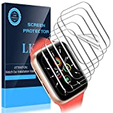 LK [6 Pack] Screen Protector for Apple Watch SE 44mm [Max Coverage] [Case Friendly] [Bubble Free] iWatch SE 44mm, HD Clear Flexible TPU Film
