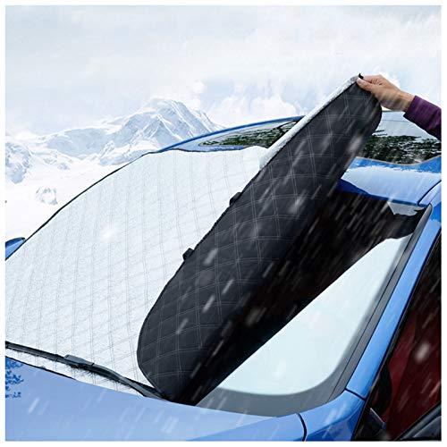 Car Windshield Snow Cover Auto Windschutzscheibe Schneedecke Dickere Windschutzscheibe Winter Schnee Abdeckung Auto Sonnenschutz Mit Magnetkanten Passend Für Die Meisten Autos(Size:92X142CM(420g))