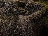 CRS Fur Fabrics Tela de forro polar de piel de oveja SHERPA, Fibra sintética, chocolate,...