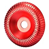 ErYao Carving Disc Extreme Shaping Disc,Woodworking Angle Grinder Attachment,Tungsten Carbide Carving Disc Grinder Wheel, Abrasive Disc Sanding Rotary Tool for 100 115 Angle Grinder (Red)