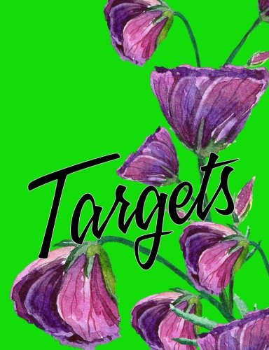 Targets and Goals Purple Flower Composition Notebook 7.44x9.69 4x4 Quad Grid: Blank 4x4 Quad Grid Graph Pages for Targets, Goals, Notes, Bullet Lists, ... Designs, and Plans. Exercise Book or Journal.