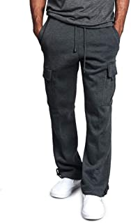 MakingDa Mens Warm Casual Cargo Trousers Winter Elasticated Waist Thermal Combat Pants Bottom with Multiple