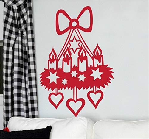 wandaufkleber 3d Wandaufkleber Schlafzimmer Weihnachtskerze Lampe dekorative Aufkleber für Wohnzimmer Schlafzimmer Kinderzimmer Kinderzimmer