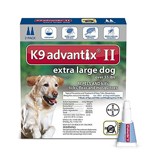 Extra Large Dogs Over Over 55Lb, K9 Advantix Ii Topical Flea & Tick Treatment