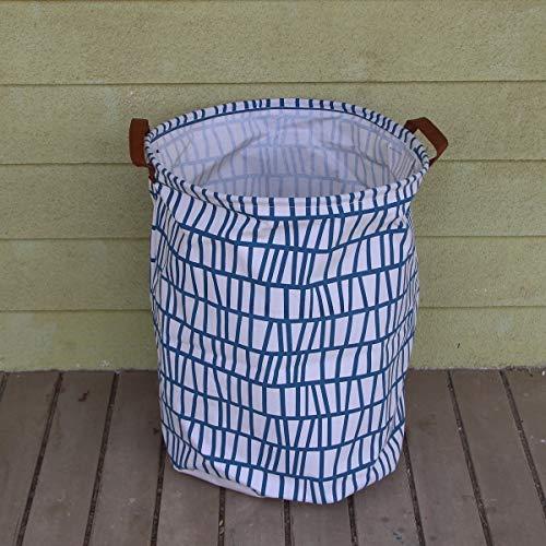 JiaxianGu3Je 19-Zoll verdickter großer Wäschekorb mit Kordelzug - (erhältlich in 19 und 22 Zoll in 9 Farben) - Mit haltbarem Ledergriff (Color : Mabe me smiee, Size : 40x50cm)