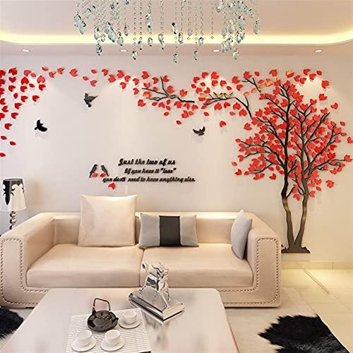 GHJGHJ DIY Pegatina de árbol Grande Etiqueta de Pantalla Acrílico Espejo Etiquetas de Pared para Sala de Estar TV Fondo de Pared Decoración del hogar Mural Muralla de Arte