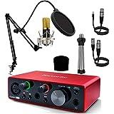 Focusrite Interface Audio Scarlett Solo 3ª Gen + Berlín Micrófono Estudio Gold Pro Pack