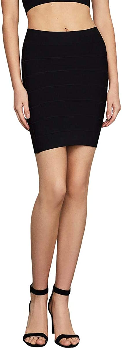 BCBG Max Azria Simone Women's Textured Stretch Mini Pencil Skirt