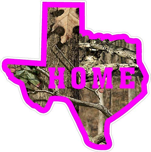 TAMENGI Texas Camo Pink Home State Pride Decal Sticker NRA NWTF Lonestar Country Girl