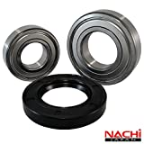 Front Load Bearings Washer Tub Bearing and Seal Kit with Nachi bearings, Fits Kenmore and Electrolux Tub 134642100 (Includes a 5 year replacement warranty and link to our'How To' videos)