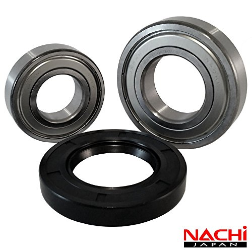 """Front Load Bearings Washer Tub Bearing and Seal Kit with Nachi bearings, Fits Kenmore and Electrolux Tub 134642100 (Includes a 5 year replacement warranty and link to our""""How To"""" videos)"""
