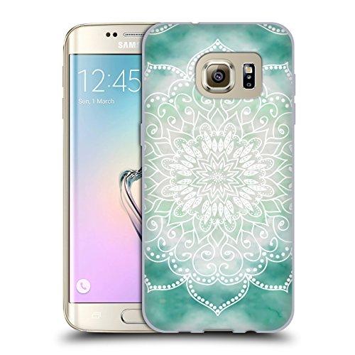 Head Case Designs Licenza Ufficiale Nika Martinez Boho Verde Mandala Cover in Morbido Gel Compatibile con Samsung Galaxy S7 Edge