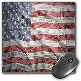 Mouse Pad Gaming Funcional Decoración de la bandera americana Alfombrilla de ratón gruesa impermeable para escritorio Dólar estadounidense en la bandera Dinero Valor de cambio de moneda Global Finance