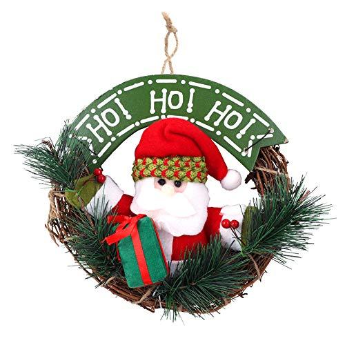 Guirnalda de puerta de navidad, guirnaldas de santa de interior al aire libre feliz navidad adorno de puerta de entrada guirnalda de vacaciones para puerta de navidad ventana decoración de la pared