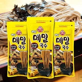 Ottogi Buckwheat Noodle 3 EA; Each noodle is 14.1 oz, serving 4 ; 오뚜기 메밀국수 3개, 각 국수 400g 4인분
