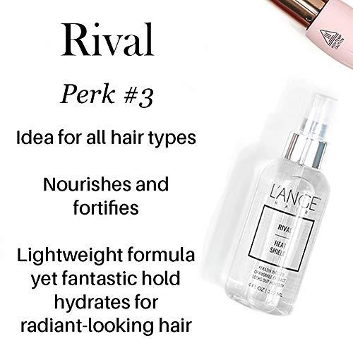 l'ange Hair Rival Heat Shield - Thermal Protection - Anti-Oxidants & Keratin Heat Protection Spray - Frizz & Damage Control - Paraben-Free Treatment
