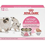 Royal Canin Mother & Babycat Ultra-Soft Mousse in Sauce Wet Cat Food for New Kittens and Nursing or Pregnant Mother Cats, 3 Ounce Can (12-Pack)