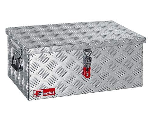 FTsolid Alukiste mit Spannverschluss aus Edelstahl Dachbox Staubox aus Aluminium Werkzeugkiste Alubox Transportbox Toolbox
