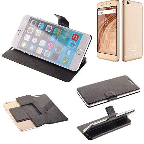 K-S-Trade® Schutz Hülle Für Blaupunkt SL02 Schutzhülle Flip Cover Handy Wallet Case Slim Handyhülle Bookstyle Schwarz