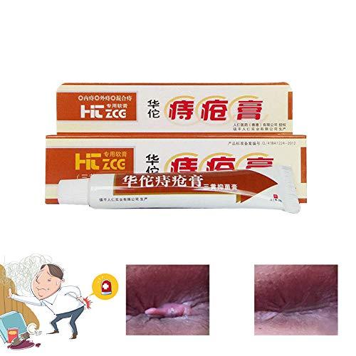 WyTosa Unguento per emorroidi Hua Tuo, Materiali a Base di Erbe Naturali Crema per emorroidi Potente Crema anale per emorroidi Interne Mucchio di Fessure Anali Esterne, Sicuro e Sano, 25 g