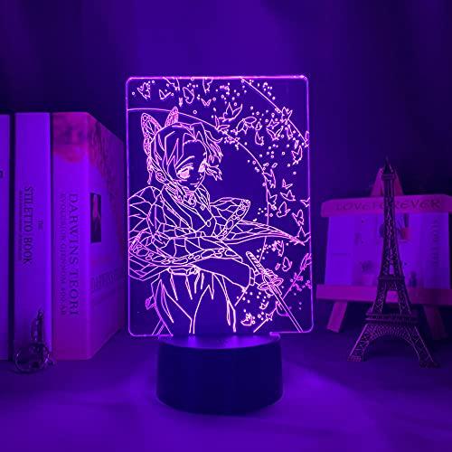 Figura de acción 3D ilusión de anime con luz LED nocturna, manga The Millionaire Huesca Lamp Kawaii Room Decor Light Party bar Atmosphere