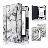 ACdream Kindle Paperwhite Case 2018, Folio Smart Cover Leather Case with Auto Sleep Wake Feature for All New and Previous Kindle Paperwhite Models, Black Marble