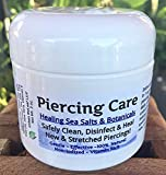 Urban ReLeaf Piercing Care ! Healing Sea Salts & Botanical AFTERCARE ! Safely Clean, Disinfect & Heal New Stretched Piercings. Effective Non-iodized. Vitamin Rich. Dead Sea Salt & Botanicals (1)