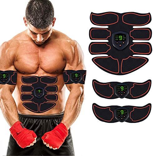 HJCC Elektrischer Schlankheitsgürtel, Reizende Bauchmuskeln, Physische Form des ABS EMS-Trainers, USB-Ladegurt ABS-Muskeltrainer