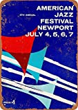 Forry American Jazz Festival Newport Metall Poster Retro