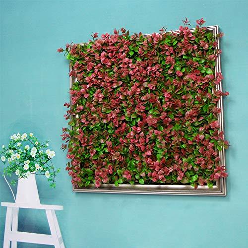 ULAND pianta artificiale incorniciata da parete, siepe artificiale quasi naturale, cornice 3D, decorazione per casa, corridoio, sala conferenze, caffetteria, F-A019P