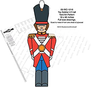 Toy Soldier 4 ft tall Yard Art Full Size Woodworking Pattern