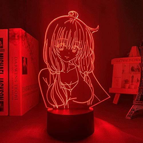 Luz nocturna 3D de Lava Anime lámpara Anime Figura Saekano Como una novia aburrida para dormitorio Decoración Sight Light Kids Brithday Regalo Manga Mesa 3D DGNYJ