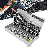 Kit de reparación de roscas Juego de llaves y matrices Retire los tornillos rotos Pernos con la caja de almacenamiento 32 piezas