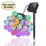 Guirlande Lumineuse Solaire Exterieur Jardin 6,5 m 30 LED Imperméable Lumières féériques Globe Boule de cristal Décor...