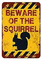 アメリカ雑貨 アメリカン雑貨 英語版 動物注意 ブリキ看板 警告コーギー 金属板 注意サイン情報 サイン金属 安全サイン 警告サイン 表示パネル (SOUIRREL)