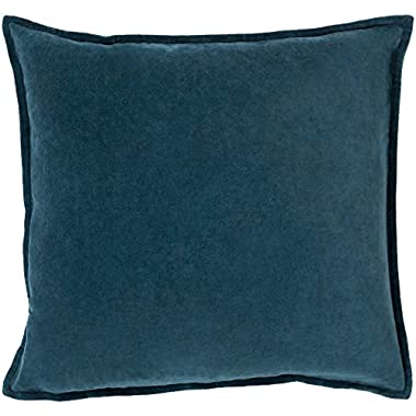 Surya CV004-1818D Down Fill Pillow, 18 by 18-Inch, Teal