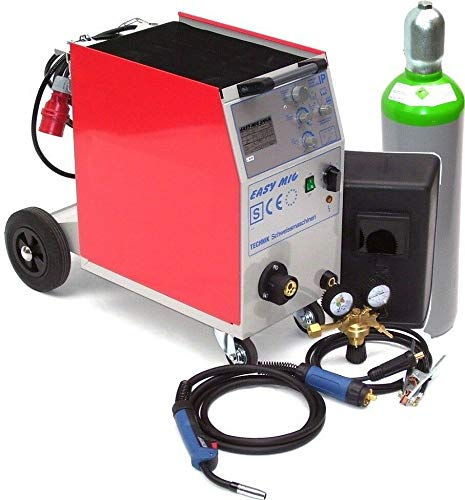 MIG MAG 250AM Schutzgasschweißgerät Schweißgerät + 20L Gasflasche + 15kg Draht AWZ